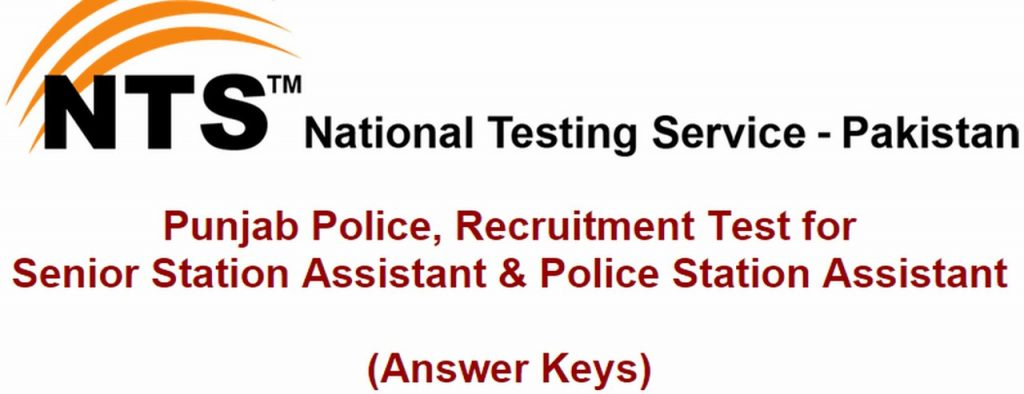 Answer Keys of Recruitment Test for Senior Station Assistant & Police Station Assistant