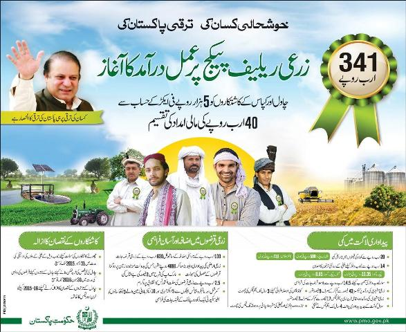 Prime Minister Nawaz Sharif 's Kissan Package 2015