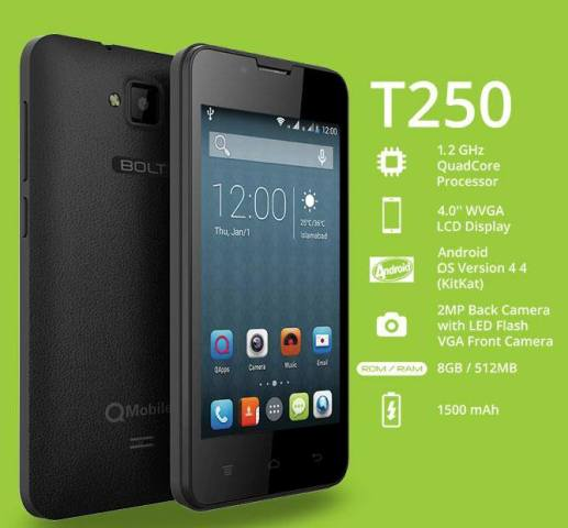 QMobile Bolt T250 Features & Specifications