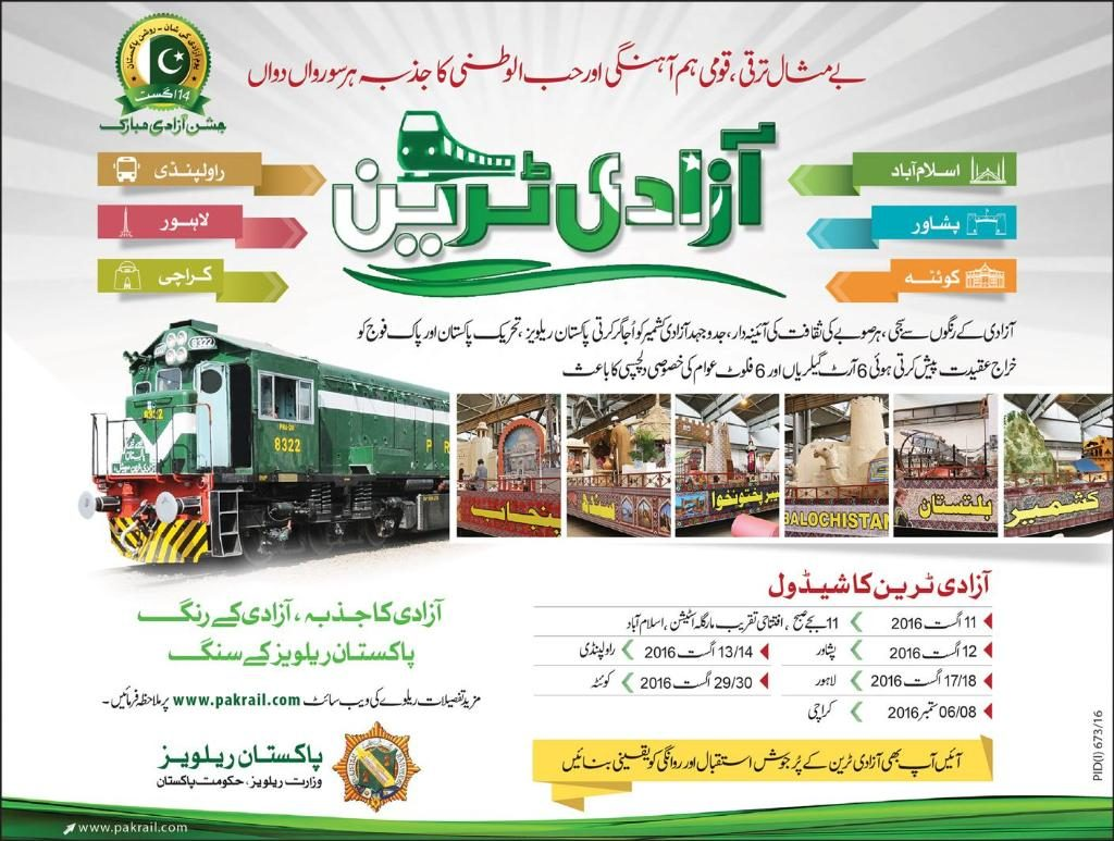 inauguration of Azadi Train