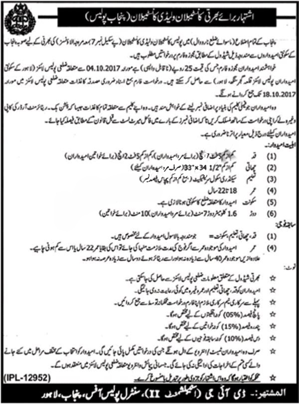 New Constable and Traffic Assistant in Punjab