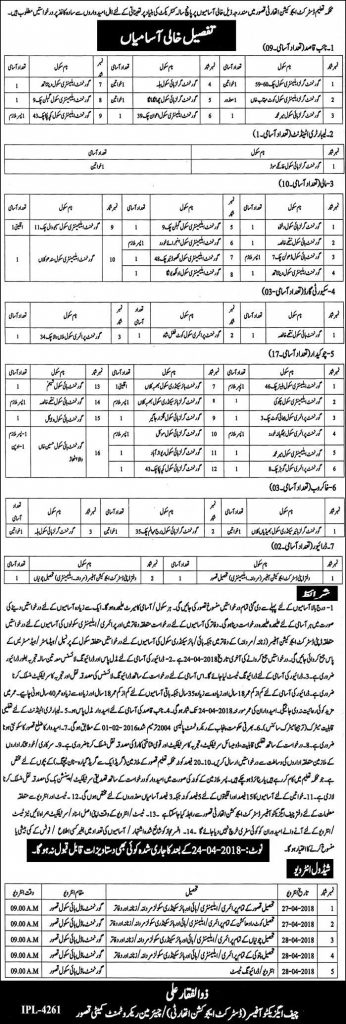 jobs in District Education Authority Kasur