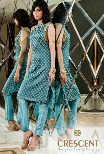 Crescent Lawn Fancy Eid Dresses 2013 for Women