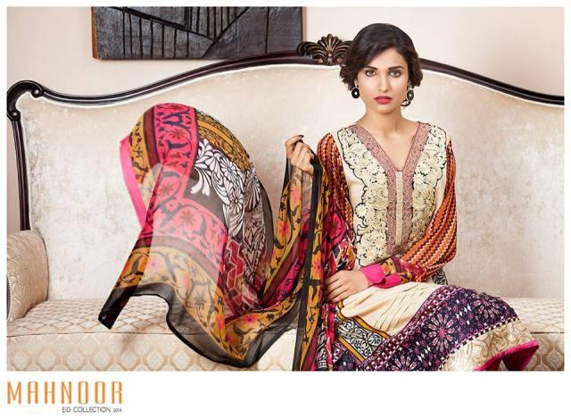 Latest Mahnoor Eid Dresses Collection 2014