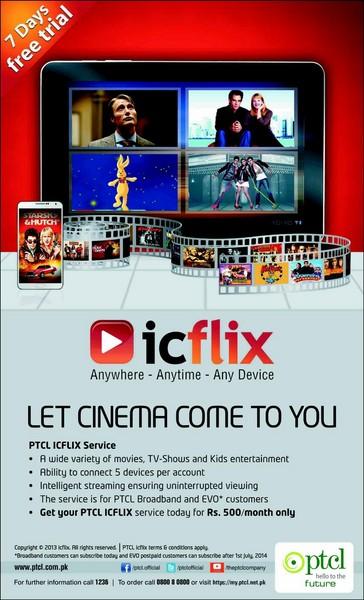 PTCL ICFLIX Service 2014