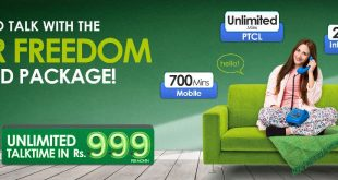 PTCL Super Freedom Unlimited Offer with Rs.999.