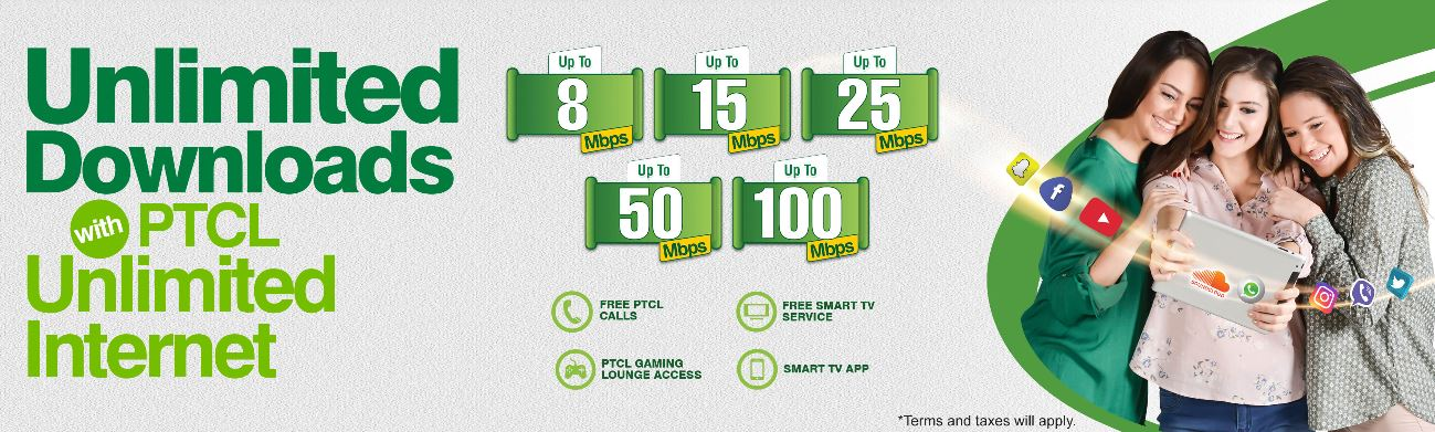 ptcl Unlimited Internet Packages