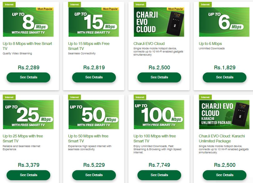 PTCL Broadband Internet Packages 2021