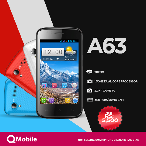 Qmobile A4 three sim mobile