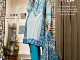 Gul Ahmed Blue color Dress