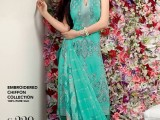 Gul Ahmed Half Saleve Sea Green Dress