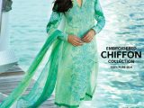 Gul Ahmed Light Sea Green Color Dress