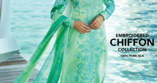 Gul Ahmed Light Sea Green Color Dress