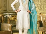Gul Ahmed White with color dupata dress