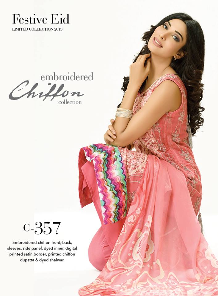 Gul Ahmed light Pink Color dress
