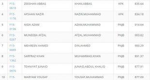 Quaid-i-Azam University Islamabad Third Merit List for Master's Programme (Fall-2015)