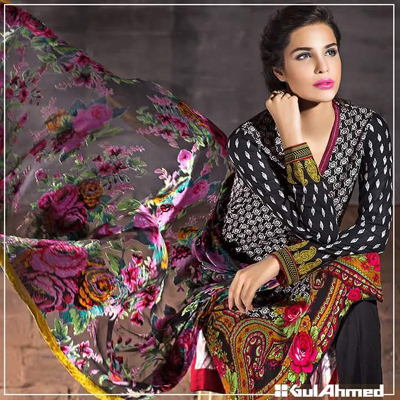 Gul Ahmed New Winter 2015 collection for girls