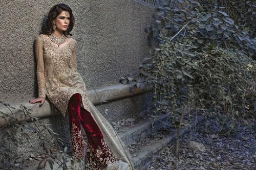 Desiger Mina Hasan NewUnique Floral Bridal Dresses 2016 for ladies