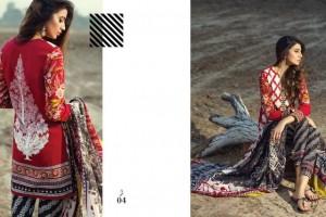 Sana Shafi kameez with a pop of tangerine contrast