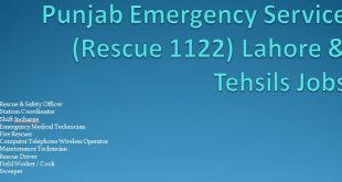 Rescue 1122 NTS Jobs December 2015