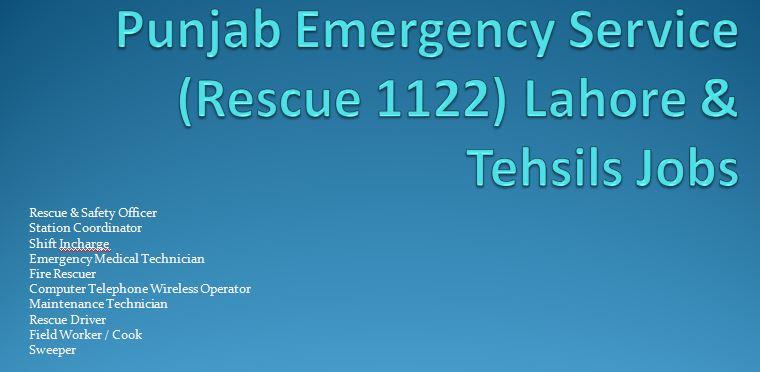 Rescue 1122 NTS Jobs December 2015