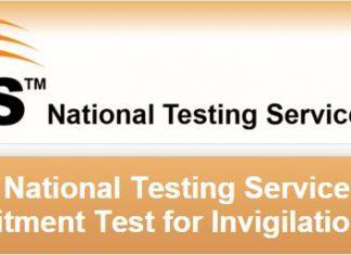 National Testing Service Recruitment Test date for Invigilation Staff