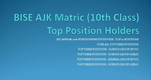 BISE AJK Positions SSC Exam Annual 2016