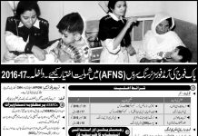 Join Pak Army in Armed Forces Nursing Service AFNS 2016-17