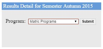 aiou result matric 2016