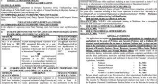 University of Agriculture Faisalabad (UAF) Jobs 2020