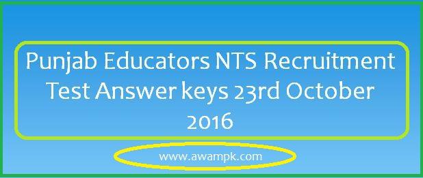 nts Educators answer key 23rd october 2016