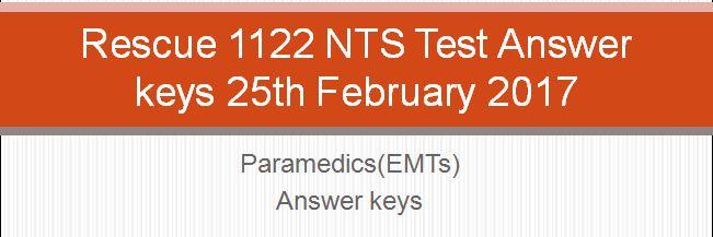 rescue 1122 nts test answer keys