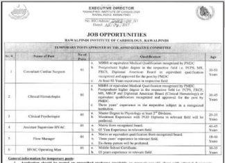 ric rawalpindi jobs 2017