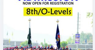Cadet College Hasan Abdal 8th/O-Levels Admission 2021-22