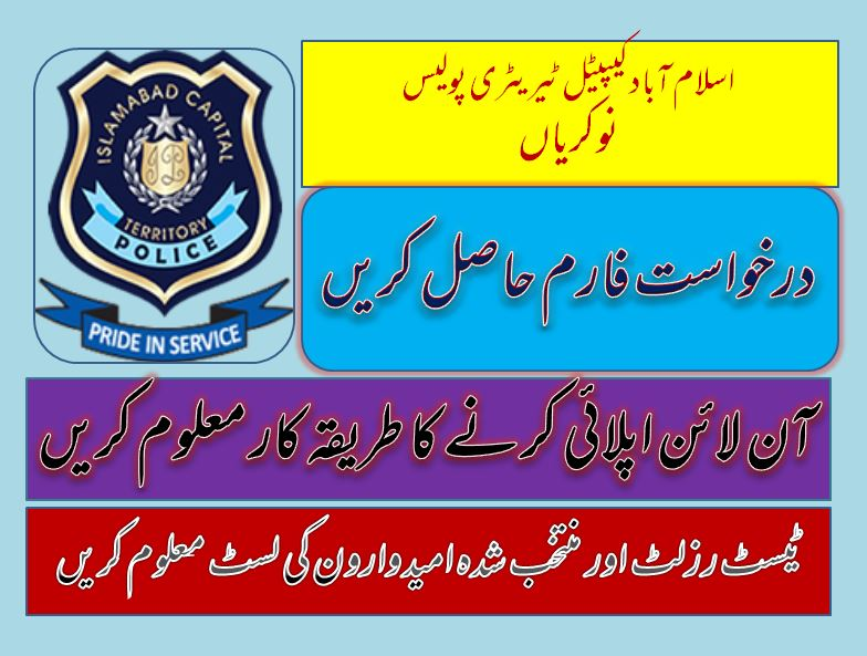 Islamabad Capital Territory Police (ICTP) Jobs 2020