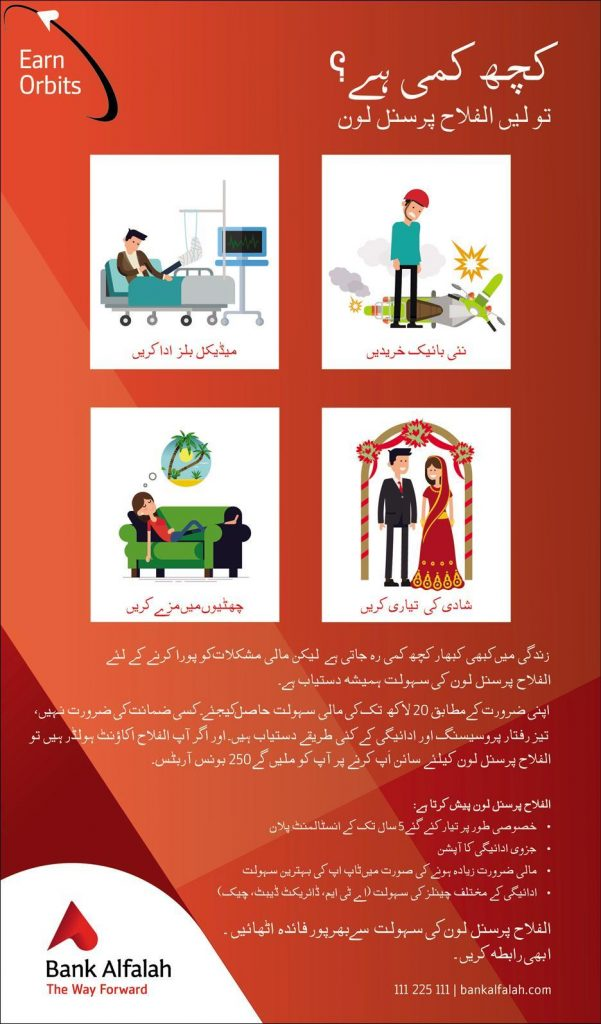 Details of Alfalah Personal Loan