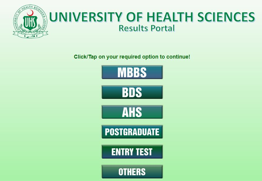 UHS BDS Second Professional Annual Examination result 2021