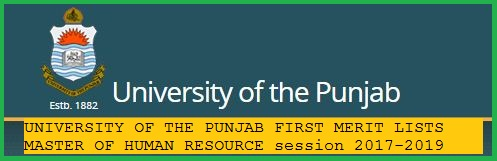 UNIVERSITY OF THE PUNJAB, LAHORE ADMISSION FIRST MERIT LIST