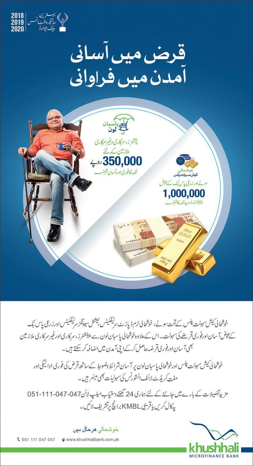 Khushhali Bank Limited Loan Schemes