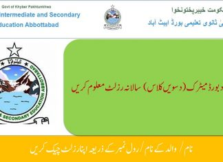 BISE Abbottabad Matric(10th Class) Annual Result 2020