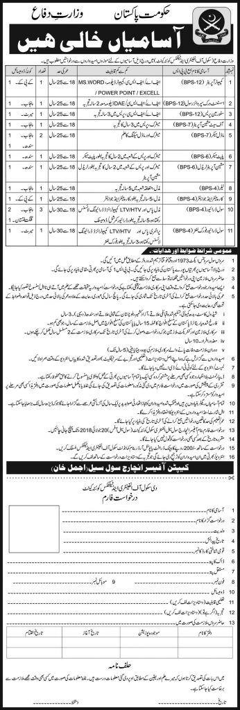 jobs in The school of Infantry and Tactics Quetta jobs