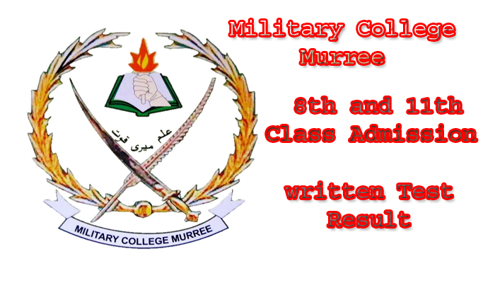 Military College Murree 8th and 11th Class Admission written Test Result 2020