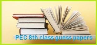 PEC 8th class guess paper 2019