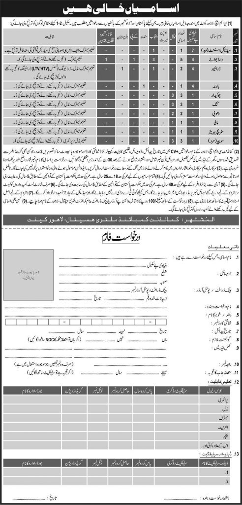 Combined Military Hospital jobs