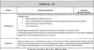 Information Technology University(ITU) Jobs 12th July 2021