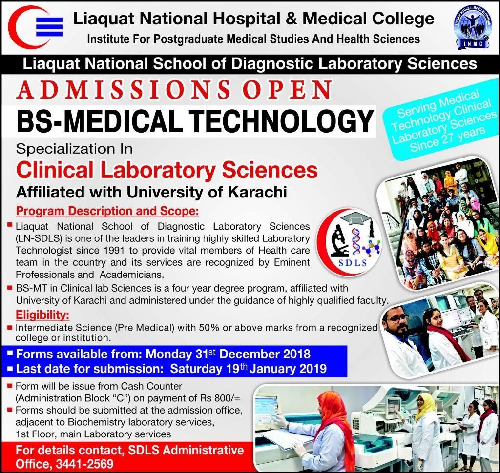 Liaquat National Hospital & Medical College Admission