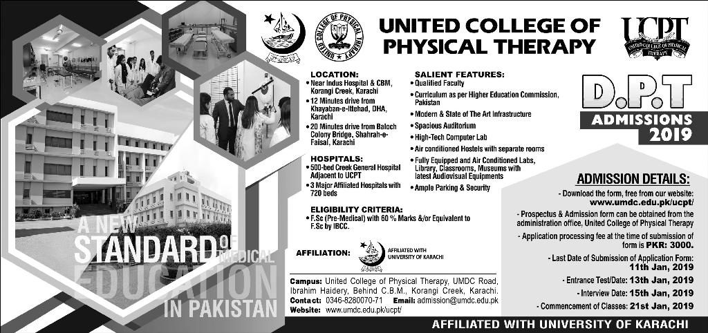 UNITED COLLEGE OF PHYSICAL THERAPY DPT ADMISSION