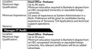 The Bank of Khyber Jobs 28th January 2021