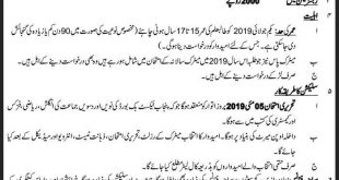 military college jhelum admission 2019