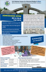 Mehran University of Engineering and Technology MS & PhD Admission 2019